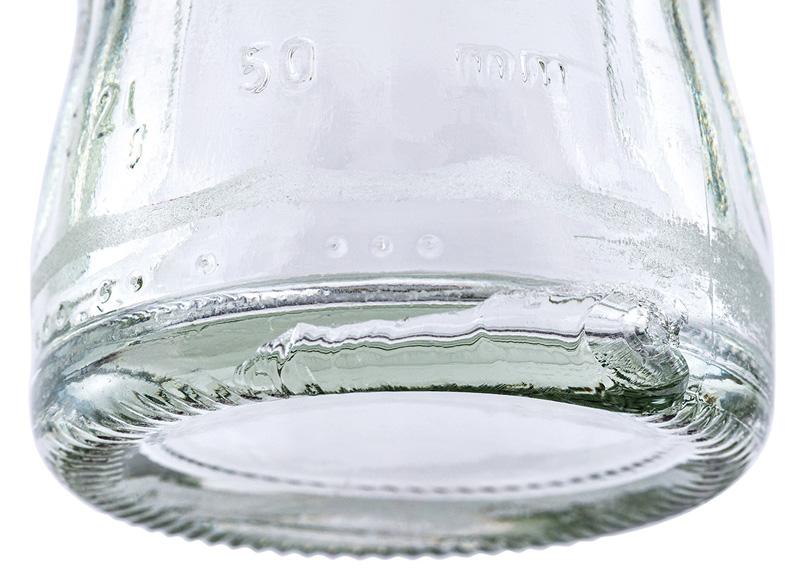 glasflasche weiss 1
