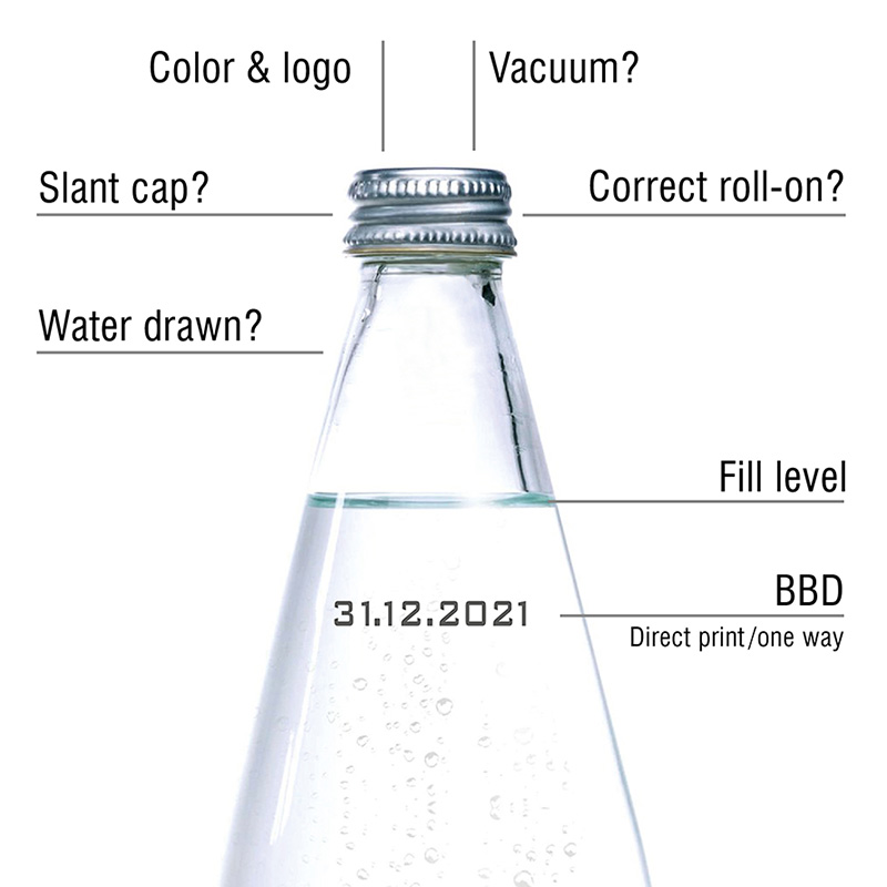inspektion der glasflasche